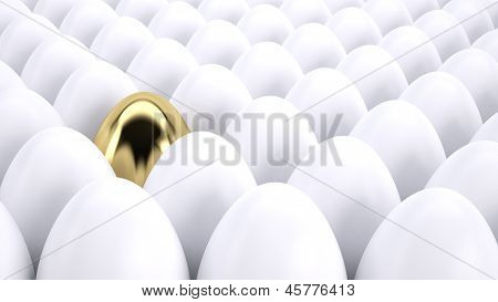 Golden Egg Standing Out