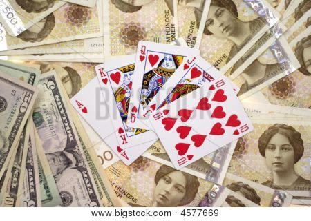 Money And A Royal Flush
