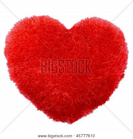 Fluffy Heart Shape Valentines Day Pillow