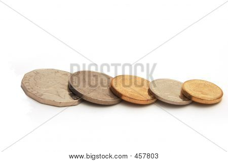 stack of australia's coin .order by 50c 20c  10c and poster