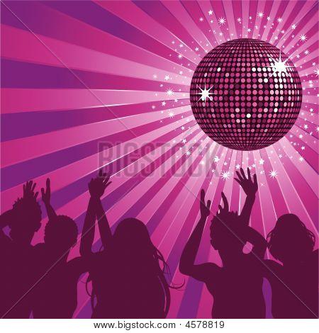 Purple Disco Ball Party.
