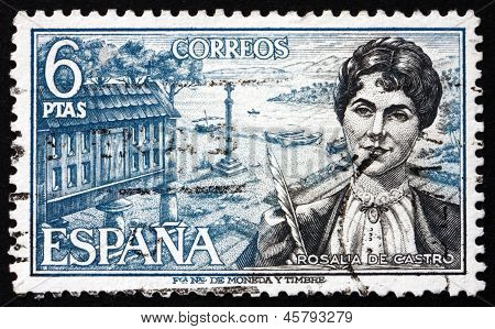 Postage Stamp Spain 1968 Rosalia De Castro, Writer And Poet
