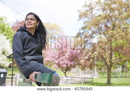 woman in outdoors
