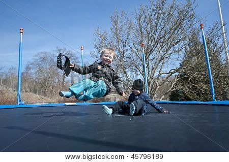 Springtime Fun On A Trampolin