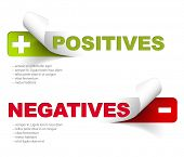 Vector template for positives and negatives poster