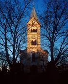 Church of St. Norbert in Prague taken on January24 2003 poster