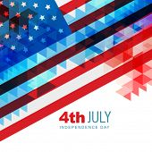 abstract design american independence day art poster