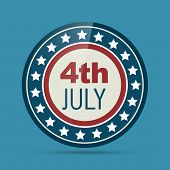 vector badge of 4th of july poster