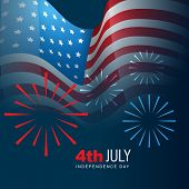 4th of july american independence day background poster
