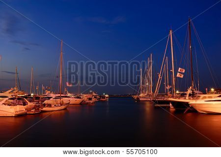 Yacht Club At Twilight