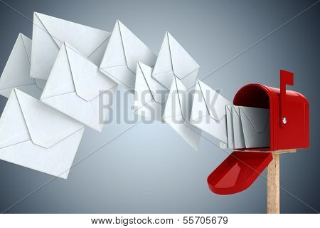 3d envelope and mail box