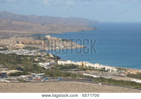 Aerial View Of Costa Calma, Fuerteventura Spain