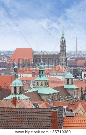 View Over Nuremberg In Germany