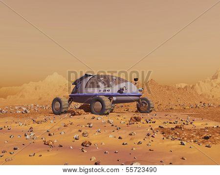 Human vehicle on Mars