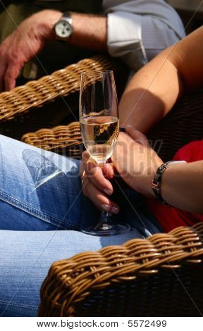 Having A Nice Glas Of Champagne