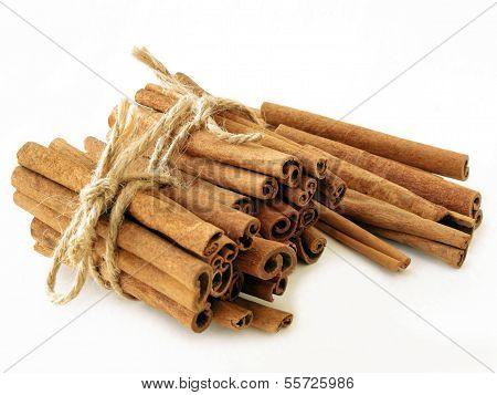 cinnamon sticks as fragrant spice