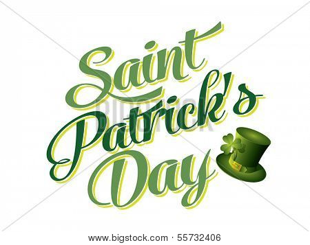 Typographic Saint Patricks Day Card