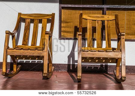 Rustic Wood Chairs