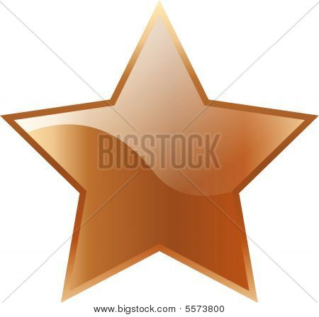 Vector Bronze Star