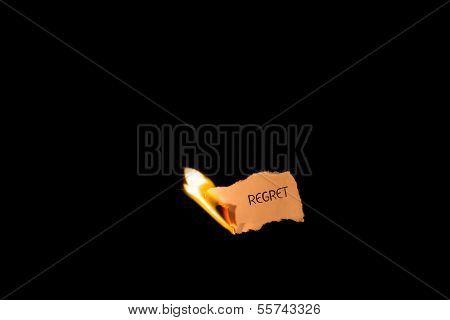 Regret on fire