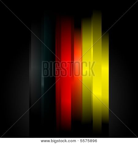 Futuristic Abstract In Germany Flag Colors