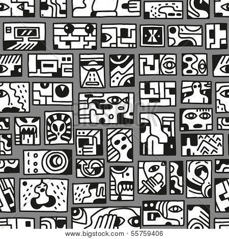 fantastic story - seamless pattern