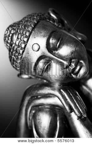 Black And White Buddha Statue