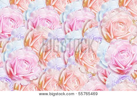 artificial rose background