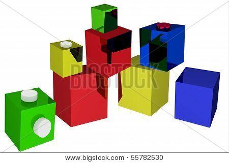 beautiful, colorful building blocks