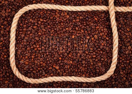 Coffee Beans With Rope