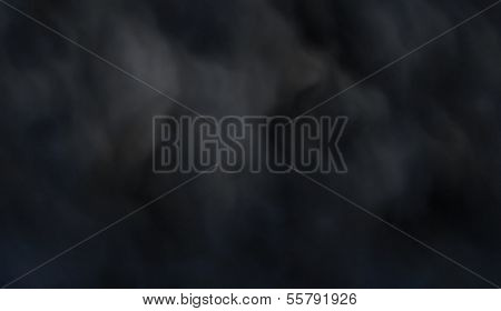 Editable vector background of dark billowing smoke made with a gradient mesh