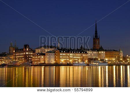 Riddarholmen in central Stockholm