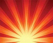sunrise sun rising sunlight vector illustration sunset sunbeam background poster