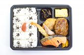 Contemporary Japanese ready -made lunchbox (bento box) poster