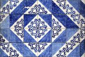 Close view at the traditional tiles from Porto, Portugal poster