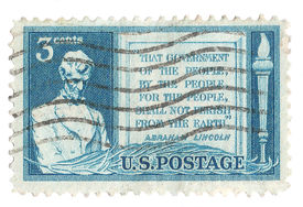 United States Stamp of Abraham Lincoln
