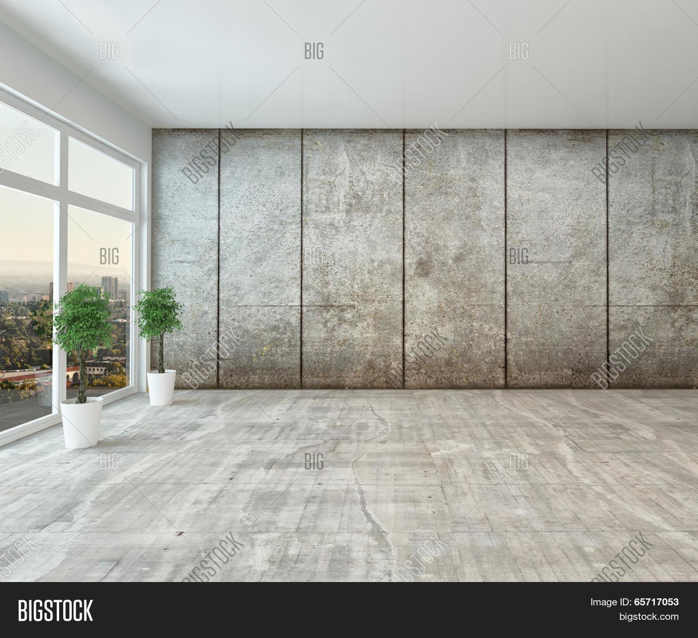 Empty Spacious Modern Interior Room Image Photo Bigstock