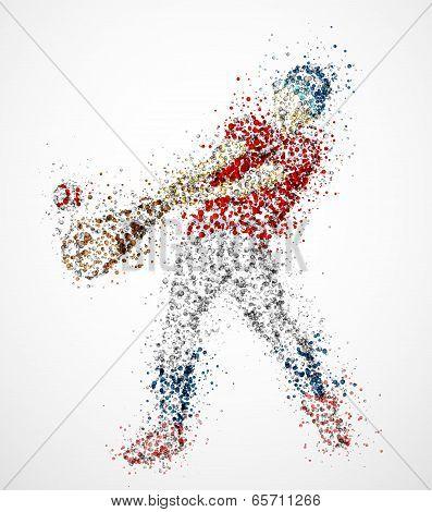 Abstract Baseball Player