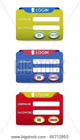 Three login templates