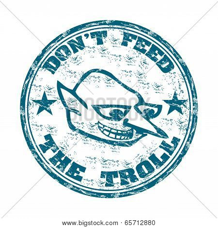 Do not feed the troll stamp