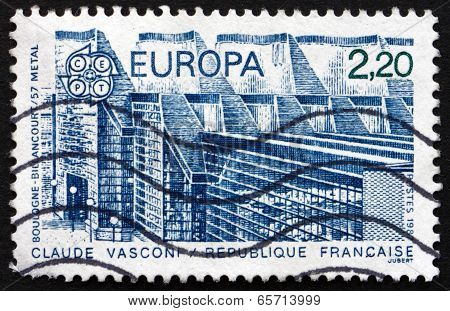 Postage Stamp France 1987 Metal Factory At Boulogne Billancourt