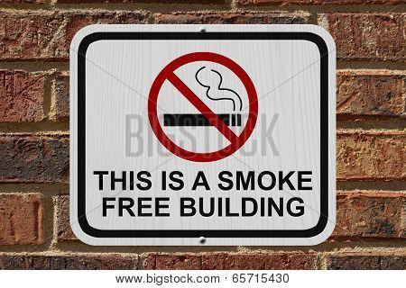 Smoking Free Building Sign
