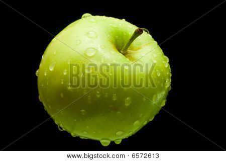Fresh Green Apple And Drops