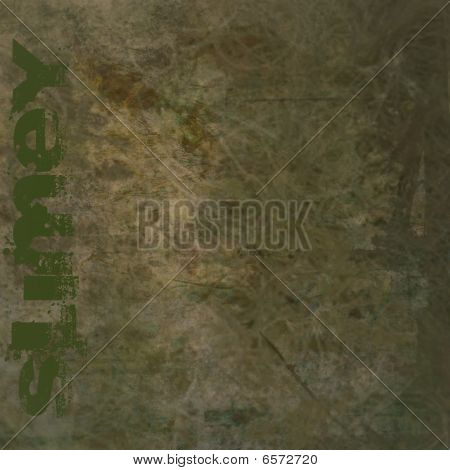 Grunge Background With Slimey Text