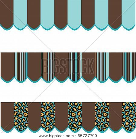 Shop Canopy Blue Brown Patterns