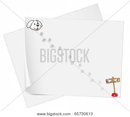Illustration of the empty sheets of bondpaper on a white background