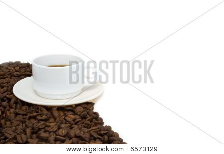 White Cup From Coffee