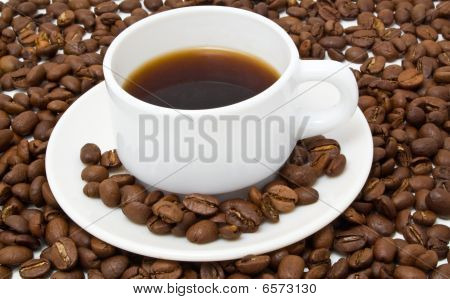 White Cup With Fragrant Coffee