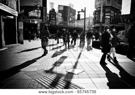 Shinjuku, Tokyo - December 17: Street view of Shinjuku. Shinjuku is a special ward located in Tokyo Metropolis, Population density of 17,140 people per km���². December 17, 2013 in Tokyo, Japan.