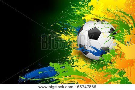 illustration of soccer ball in Football background